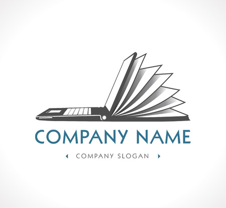 digital book: Logo - e-learning - company name Illustration