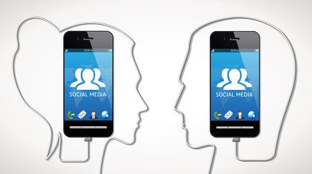 connexion: Cellphone - social media concept