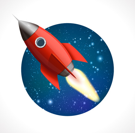 booster: Rocket in space