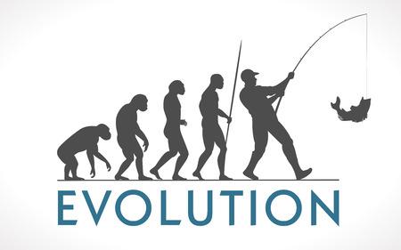 人間の進化のベクトル図  イラスト・ベクター素材