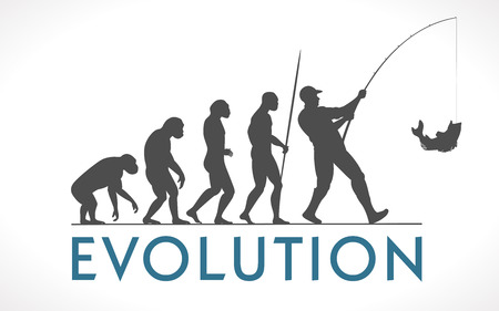 Human evolution vector illustration Illusztráció