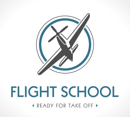 飛行学校のロゴ