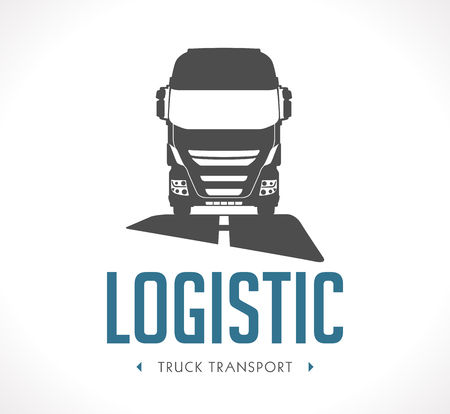 Logo - Logistic truck. Stock Photo