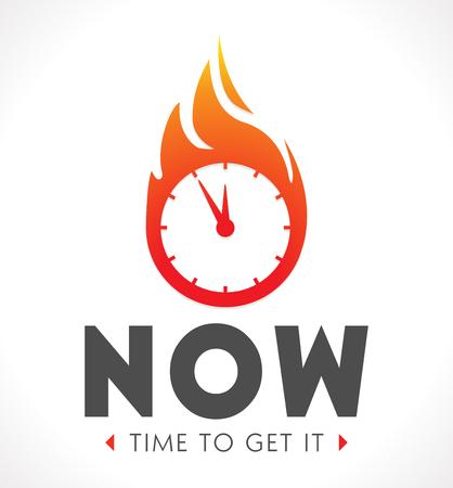 el tiempo: Logo - El momento es ahora Vectores