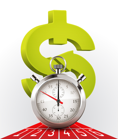 Stopwatch - money and time Illustration