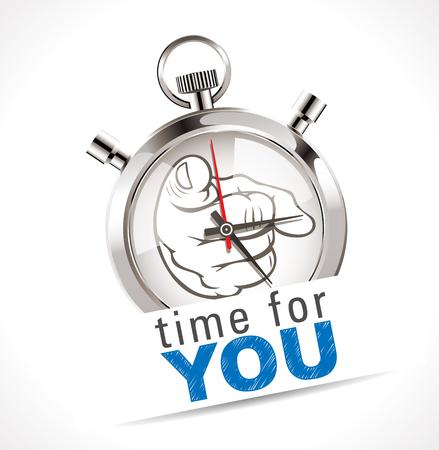 Chronomètre - temps pour VOUS Banque d'images - 48446852