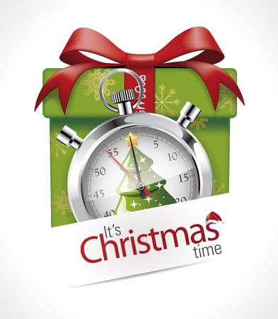 time clock: Stopwatch - Christmas time