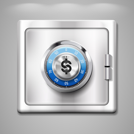 savings account: Safe with dollar sign - a bank savings account concept
