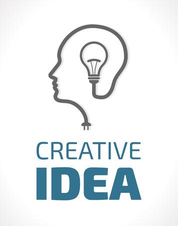 mente humana: Logo - Piense en el concepto móvil Vectores
