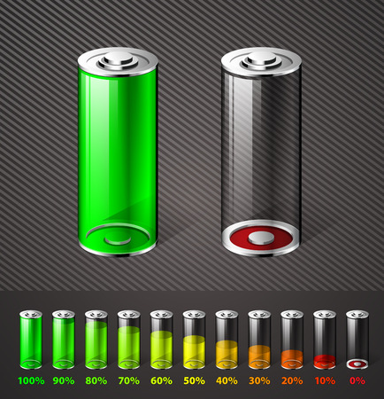 potency: Battery charge - energy concept
