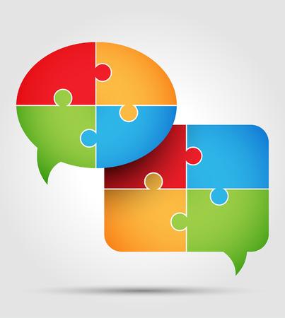 manos unidas: Puzzle - comunicación