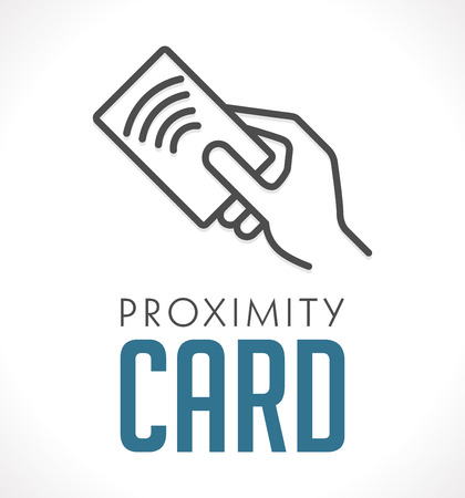 card: Logo - Proximity Card - Wireless RFID concept