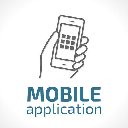 Logo - Mobile Anwendungen Konzept Standard-Bild - 48446691