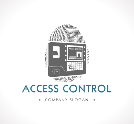 access card: Logo - Biometric Access Control System Illustration