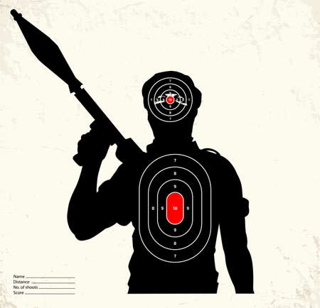 terrorist: Terrorist - shooting range target Illustration