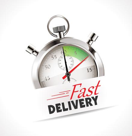 punctual: Cronómetro - Entrega rápida - concepto de envío
