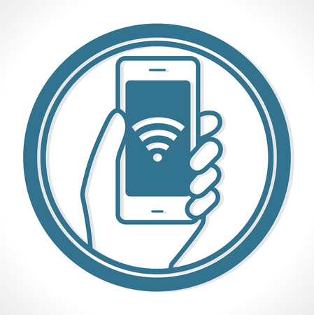 Free wireless network - a hot spot concept - mobile phone connection
