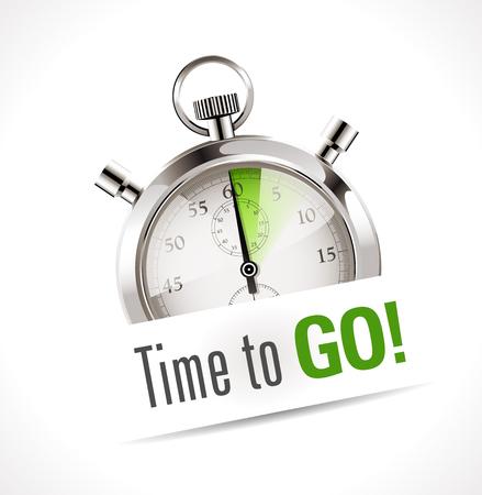 Chronomètre - le temps d'aller Banque d'images - 48446704