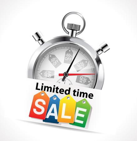 Stopwatch - limited time sale concept Stock fotó - 48445879