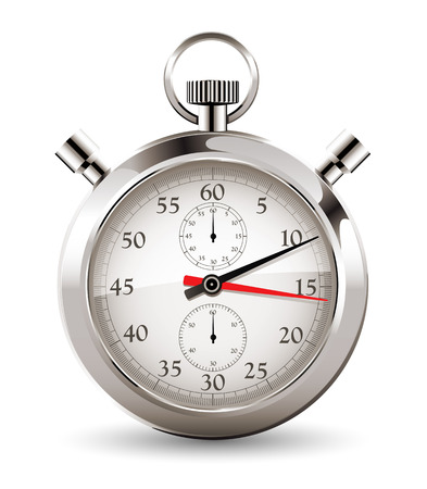 Stopwatch - clock and time concept Stock Illustratie