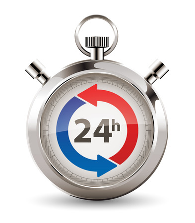 Stopwatch - fast delivery - twenty-four hours service concept