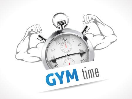 gimnasio: Concepto de tiempo GYM - Cron�metro Vectores