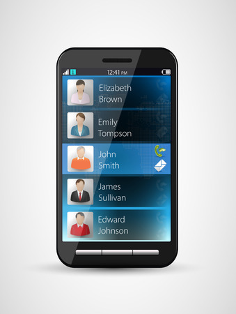 liaison: Cellphone contacts - phone concept