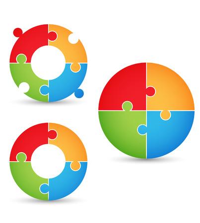 business puzzle: Puzzle - concept gears Illustration