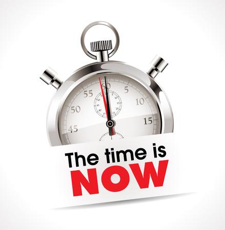 Tiempo: Logo - El momento es ahora Vectores