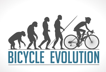 Bicycle evolution vector illustration