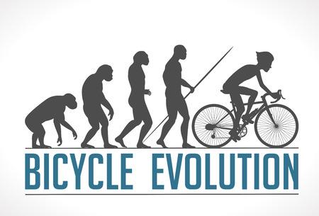 Bicycle evolution vector illustration