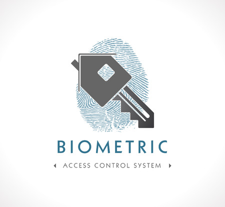 control system: Logo - Biometric Access Control System Illustration