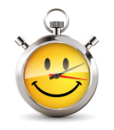 happiness or success: Stopwatch - Happy hour