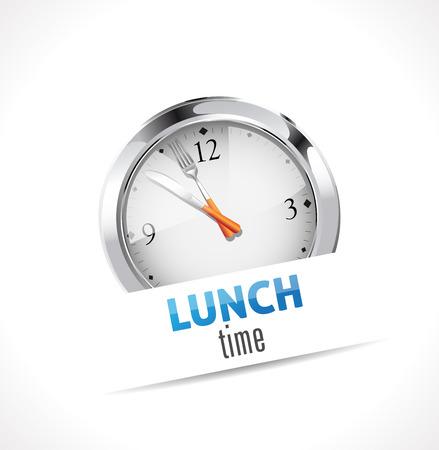 učit se: Stopky - čas na oběd Ilustrace
