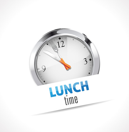 healthy lunch: Stopwatch - Time for Lunch