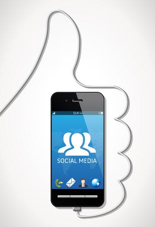 携帯電話 - ソーシャル メディアの概念