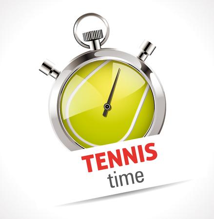 tennis serve: Stopwatch - Sport Tennis competition concept