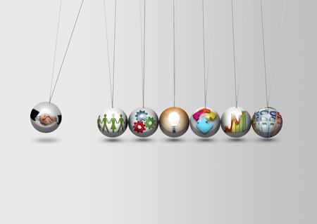 Bedrijfs leiding en concept voor partnerschap Stockfoto