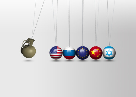 newtons cradle: Newtons cradle - China, USA, Russia, EU and Israel