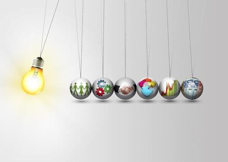 trabajo en equipo: Idea de negocio concepto - trabajar juntos