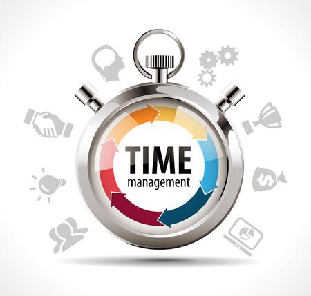 Tiempo: Concepto de gestión del tiempo - Cronómetro Vectores