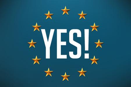 solidaridad: Decir que s� a la solidaridad europea Vectores