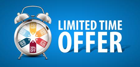 Alarm clock - limited time offer - sale concept