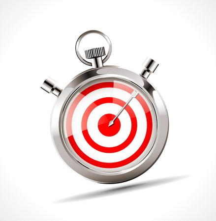 impact: Stopwatch - target concept Illustration