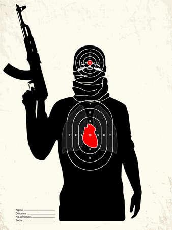 pistolas: Diana de tiro - Terrorista