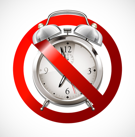 interdict: Alarm clock - no wake up - no deadline Illustration