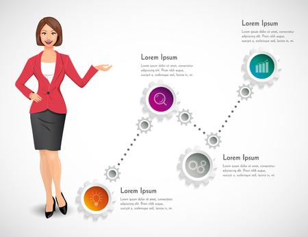 manager: Businesswomen - woman as manager Illustration