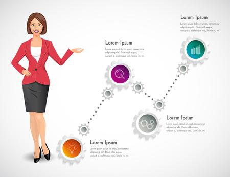 businesswomen: Businesswomen - woman as manager Illustration