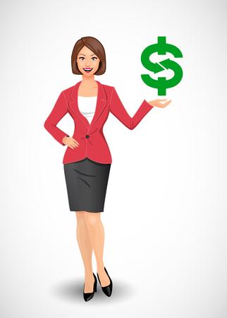 retribution: Businesswomen - woman as manager Illustration