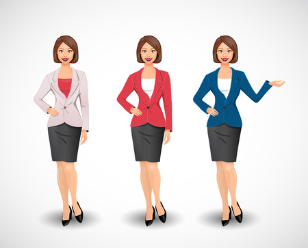 Businesswomen - woman as manager Çizim